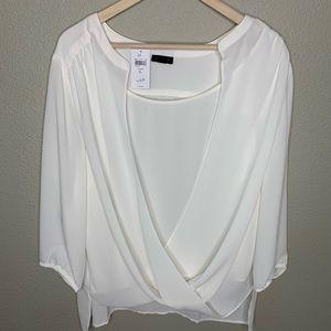 J.jill cream blouse top size XL